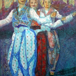 Turkish Dancers (Kusadashi, Turkey), painting by Wayne Williams