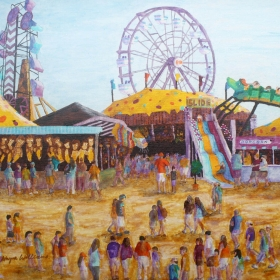 Going to the Fair, painting by Wayne Williams