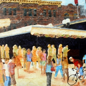 Market Menagerie, a painting of Ottawa's Byward Market by Wayne Williams