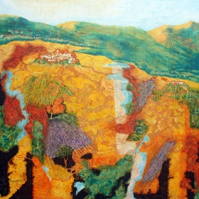 Impressions of Provence (France) is an impressionistic painting of French countryside by Wayne Williams